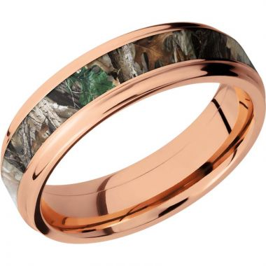 Lashbrook 14k Rose Gold 6mm Men's Wedding Band