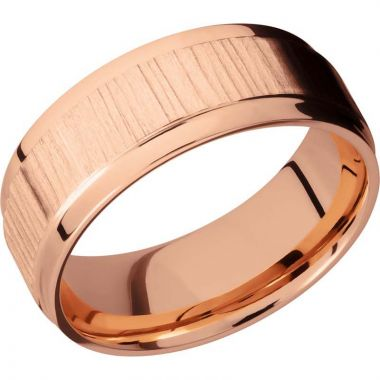 Lashbrook 14k Rose Gold Men's Wedding Band