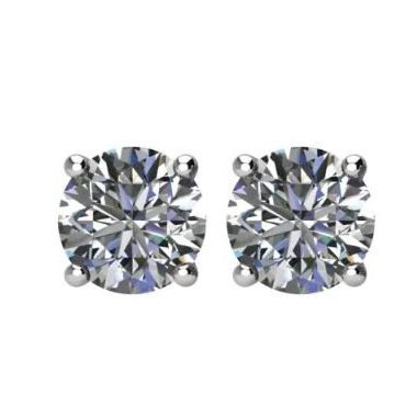 14k White 1.40 GIA Diamond Studs  G- I1