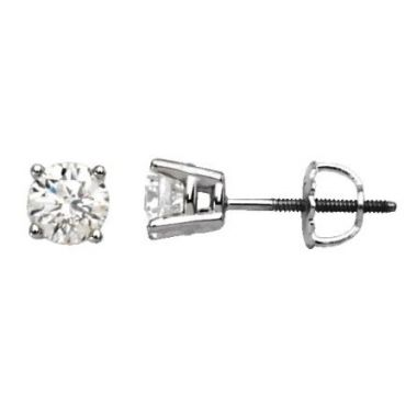 14k White 1.62 CTW Diamond Studs
