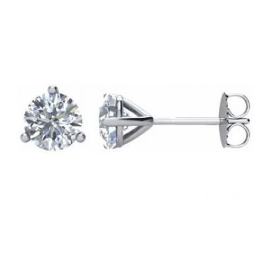 14k White 1.83 Carat GIA Diamond Studs