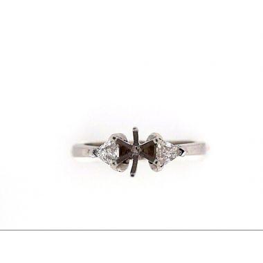 14k White Gold Diamond Engagement Ring Set