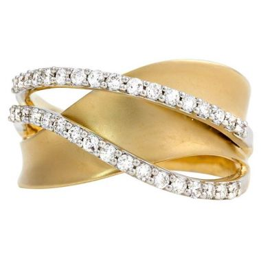 14k Yellow & White Gold Diamond Fashion Ring (3/8ctw)