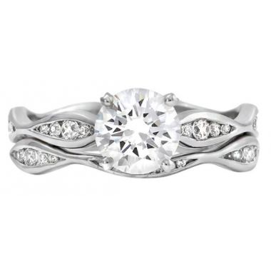 14k White Gold 1/8ct Wedding Band