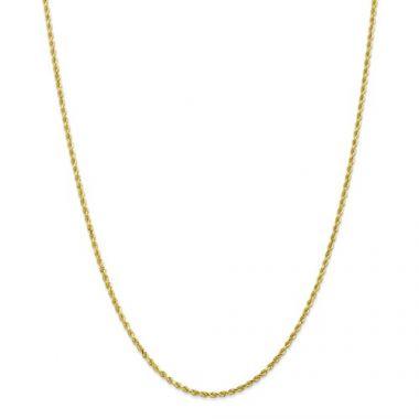 2.00mm 10k Yellow Gold Handmade Diamond-Cut-Rope-18 inches