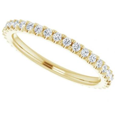 14K Yellow 3/8 CTW Diamond Eternity Band