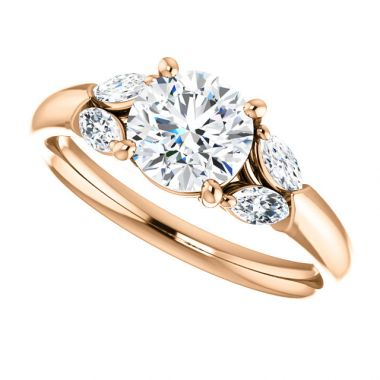 14k Rose Semi-Mount-Engagement Ring