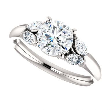 14k White Semi-Mount Engagement Ring