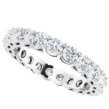 14K White 2 1/8 CTW Diamond Eternity Band Size 7