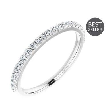 Platinum 1/4 Carat Diamond Wedding Band