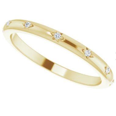 14K Yellow .06 CTW Diamond Eternity Band Size 7