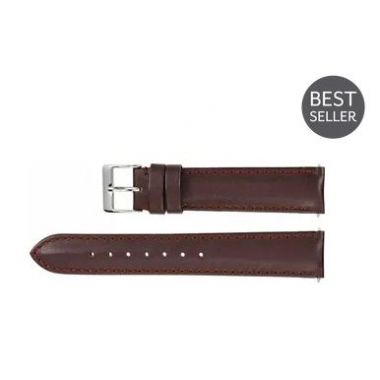 Regular Brown Leather Water-Resistant Padded Watch Band