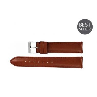 Long Honey Leather Water-Resistant Padded Watch Band