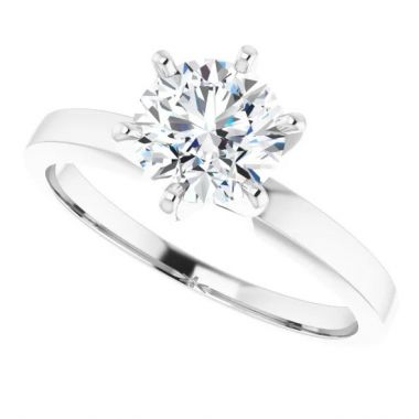 Platinum Solitaire Engagement Ring Semi-Mount