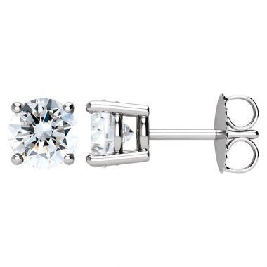 14k White Gold 1 1/2 Carat G-SI2 Diamond Studs Earrings
