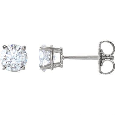 14k White 1.04 Carat Diamond Stud Earrings