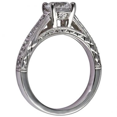 14k White Gold Gottlieb & Sons .23TW Engagement Semi-Mount