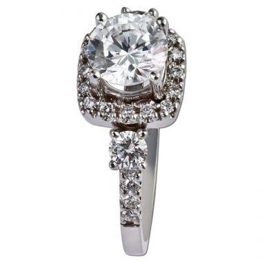 14K White Gold .47CT Diamond Gottlieb & Sons Vintage Semi-Mount