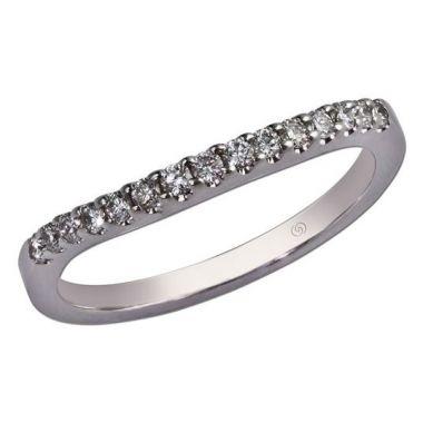 14k White Gold Diamond Wedding Band (0.22ctw)