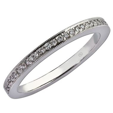 14k White Straight Diamond Ring (0.14ctw)