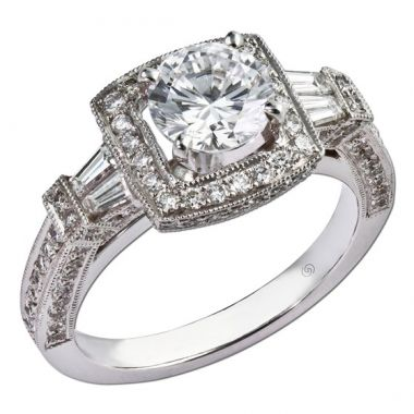 14k White Gold Gottlieb & Sons .82TW Engagement Semi-Mount