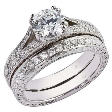 14k White Gold .29TW Gottlieb & Sons Engagement Semi-Mount