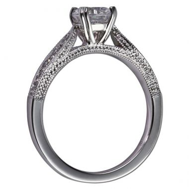 14k White Gold Gottlieb & Sons .24TW Engagement Semi-Mount