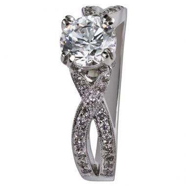 14k White Gold Gottlieb & Sons .27tw Engagement Semi-Mount