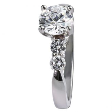 14K White Gold Gottlieb & Sons .40tw Classic Tapered Engagement Semi-Mount