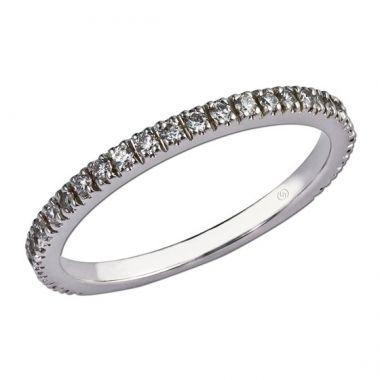 14k White Straight Diamond Ring (0.28ctw)