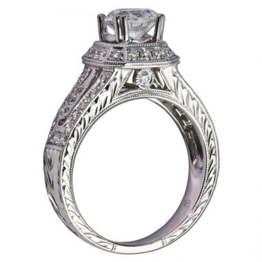 14k White Gold Gottlieb & Sons .51TW Engagement Semi-Mount
