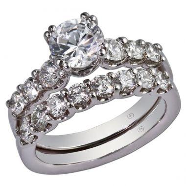 14k White Gold .60ctw Diamond Gottlieb & Sons Straight Semi-Mount