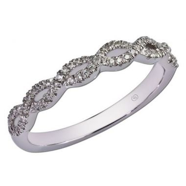 14k White Gold Gottlieb & Sons Twist Wedding Ring (0.17ctw)
