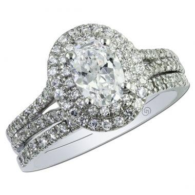 14k White Gold .33CT Gottlieb & Sons Engagement Semi-Mount
