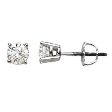 14k White 2.06 CTW Diamond Studs
