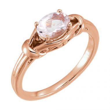 Sieger's Jewelers 14k Rose Gold Morganite Knot Ring