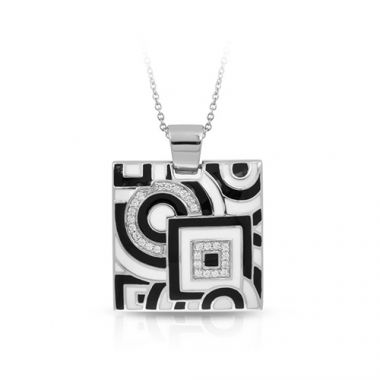 Belle Etoile Geometrica Black and White Pendant