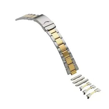 18-20-22 mm Two-tone Multi-End Piece Link Band