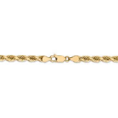 14k Solid Diamond Cut Rope-24