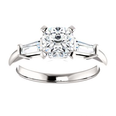 14k 1/3 CTW Semi-Mount Engagement Ring Cushion Center