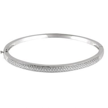 Sieger's Jewelers 14k White Gold Polished Diamond Bracelet