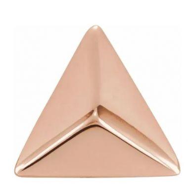 14k Pyramid Style Stud Earrings