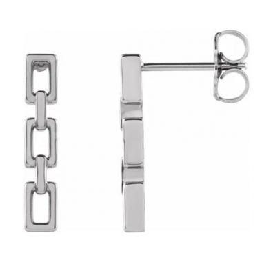 Sterling Silver Chain Link Earrings