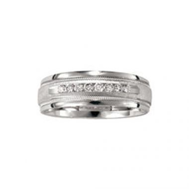 Camelot 14k White Gold Gentry Wedding Band
