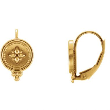 Sieger's Jewelers 14k Yellow Gold Beaded Lever Back Earrings