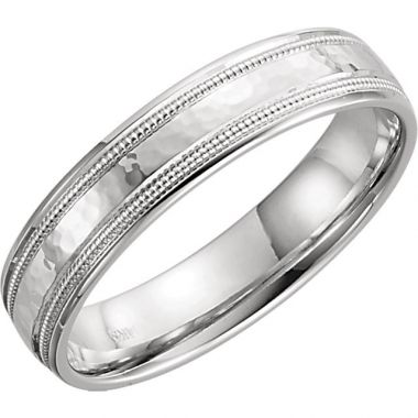 Sieger's Jewelers 14k White Gold Flat Edge Wedding Band