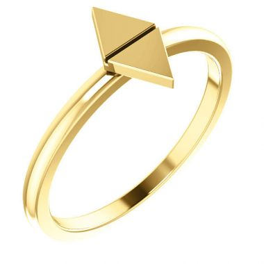Sieger's Jewelers 14k Yellow Gold Geometric Stackable Ring