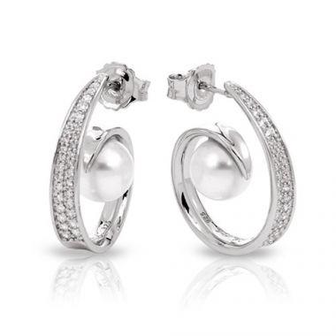 Belle Etoile Alanna White Earrings
