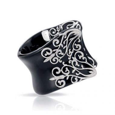 Belle Etoile Anastacia Black Bangle