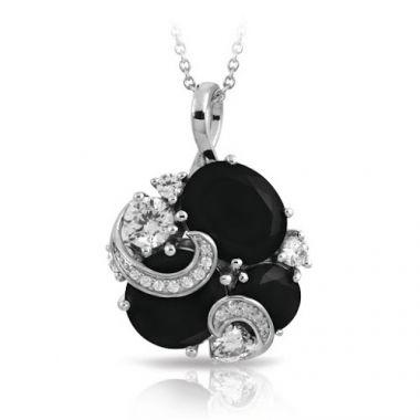 Belle Etoile Andromeda Black & White Pendant